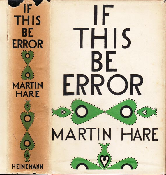 If This Be Error. Martin HARE.