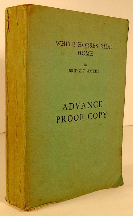 White Horses Ride Home [AUSTRALIAN FICTION]. Bridget AMERY