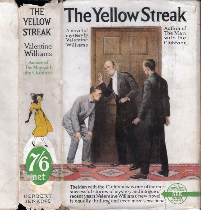 The Yellow Streak. Valentine WILLIAMS