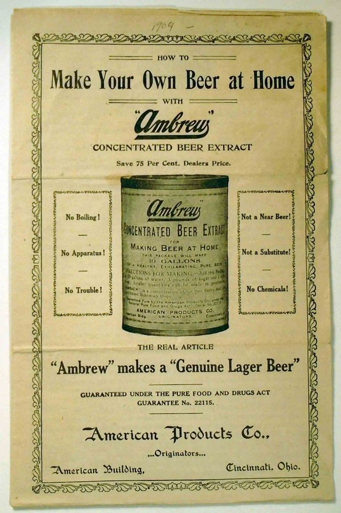 How To Make Your Own Beer at Home with 'Ambrew' Concentrated Beer Extract. AMERICAN PRODUCTS COMPANY.