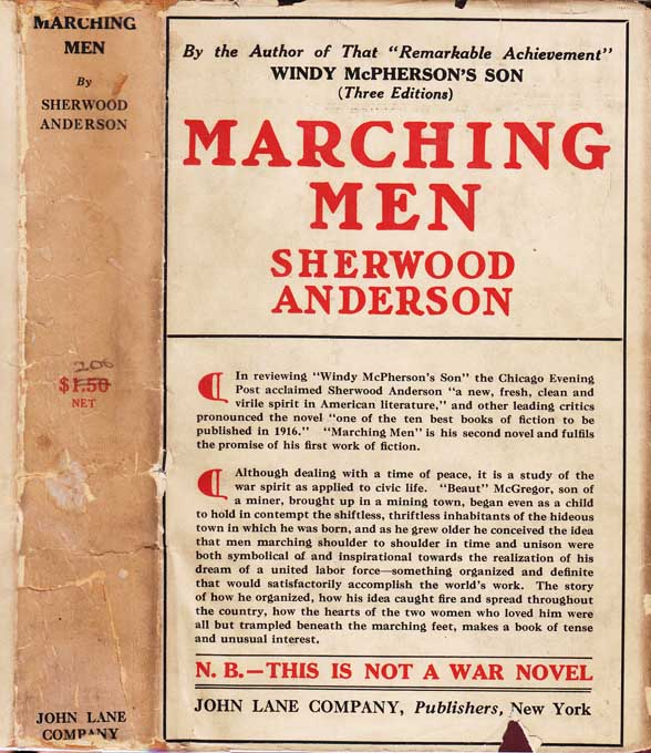 Marching Men [SIGNED]. Sherwood ANDERSON.