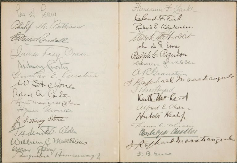 Memorial Signature Book with W. C. Matthews Autograph [AFRICAN AMERICAN BASEBALL PIONEER] [Tuskeegee Institute]. Oric BATES, Harold OBER, William Clarence.