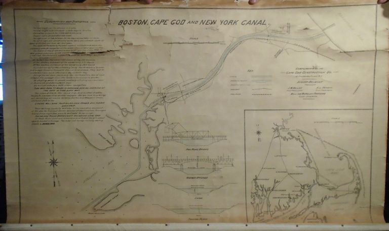 Boston, Cape Cod, and New York Canal. William Barclay PARSONS, Chief Engineer.