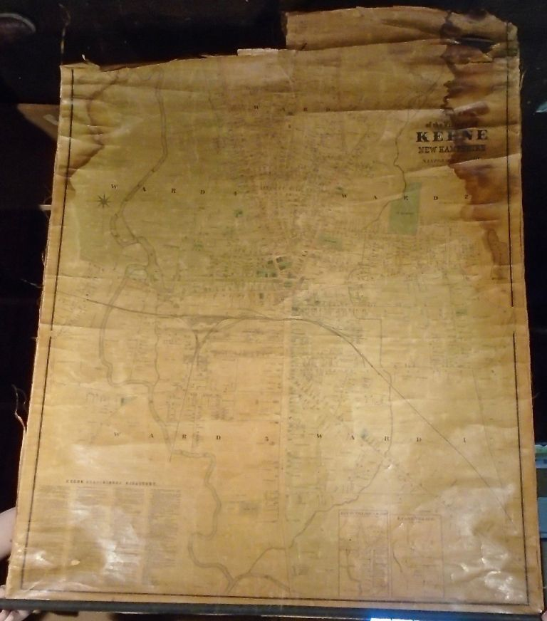 Map of the Village of Keene, New Hampshire. SANFORD AND EVERTS.
