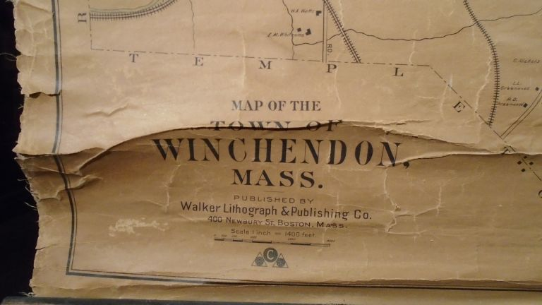 Map of the Town of Winchendon, Mass [Massachusetts]. WALKER LITHOGRAPH CO