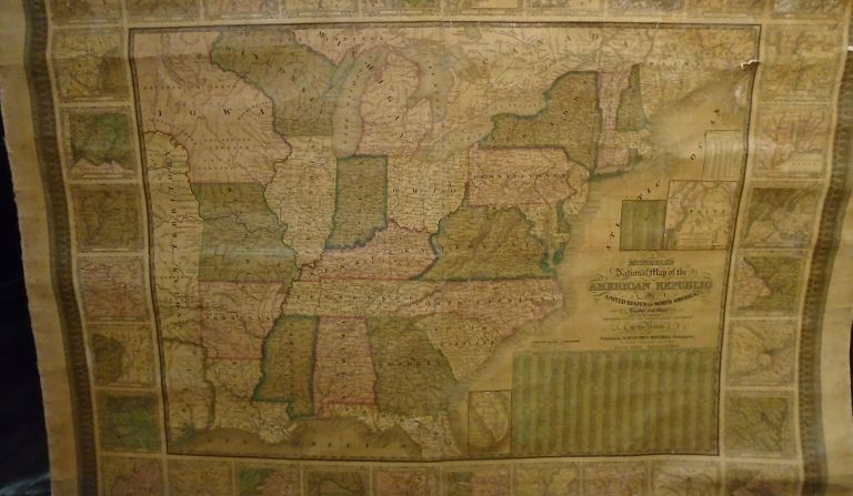 Mitchell's National Map of the American Republic United States of North America Together with...