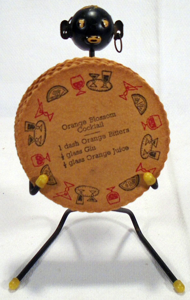 Cocktail Recipe Drink Coaster Holder with Derogatory African Theme. AFRICAN AMERICAN INTEREST.