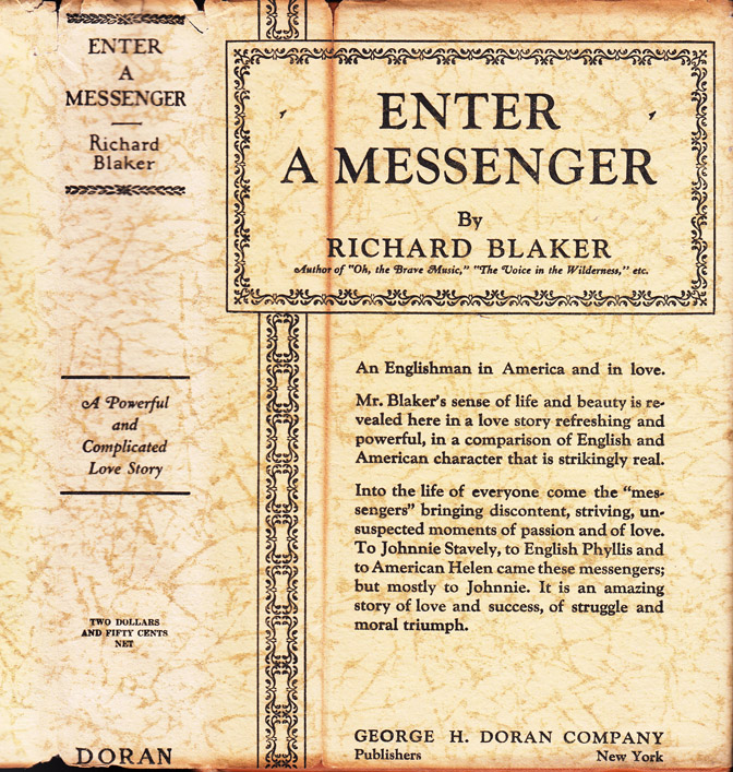 Enter A Messenger. Richard BLAKER.