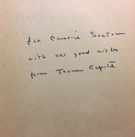 Breakfast at Tiffany's [SIGNED AND INSCRIBED]. Truman CAPOTE.