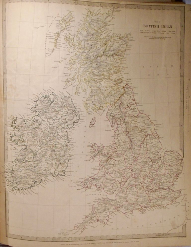 A Map of the British Isles. The Society For The Diffusion Of Useful Knowledge