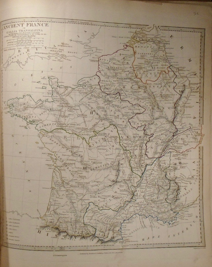 Map Of France With Key.Map Of Ancient France Or Gallia Transalpina T Hewett Key