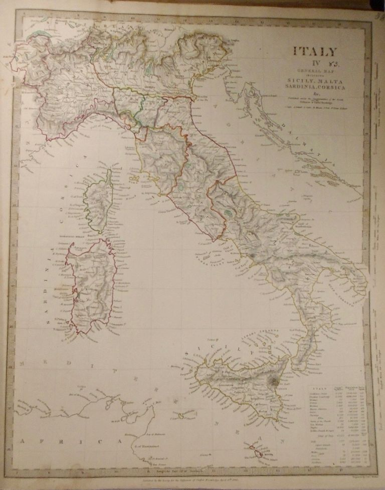 A General Map of Italy, Italy IV and Two Additional Maps of Italy. Baldwin, Gradoc