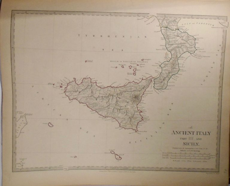Map of Ancient Italy and Sicily. Baldwin, Gradoc