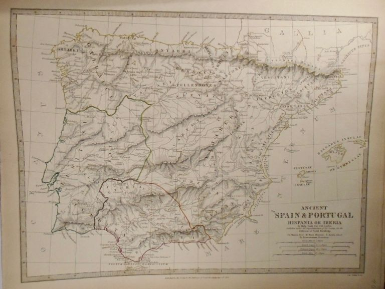 Map of Ancient Spain and Portugal. Philip SMITH