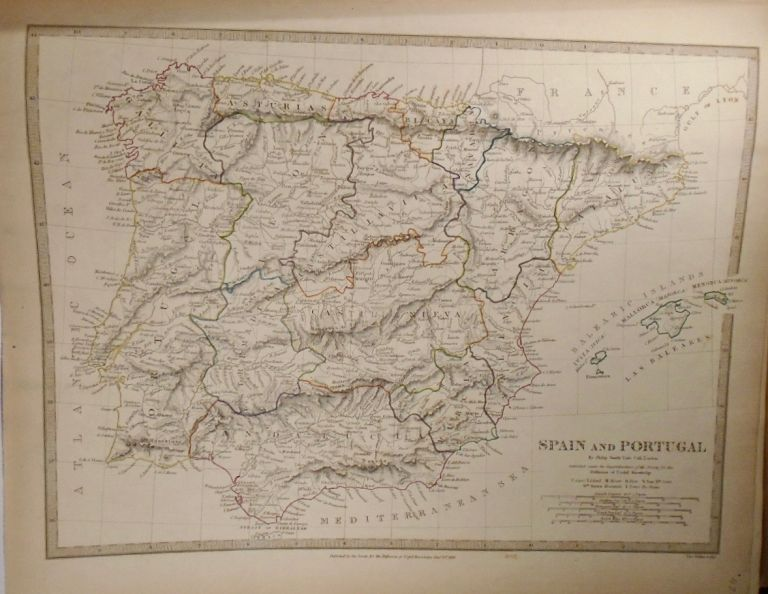 Map of Spain and Portugal. Philip SMITH