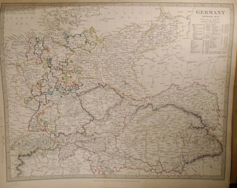 General Map of Germany. Baldwin, Gradoc.