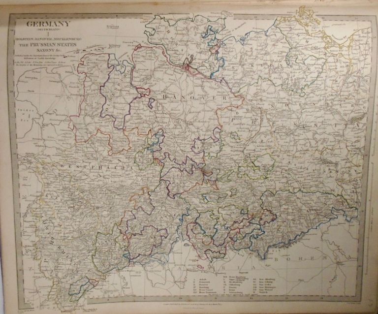 Map of Germany (Deutschland). Baldwin, Gradoc