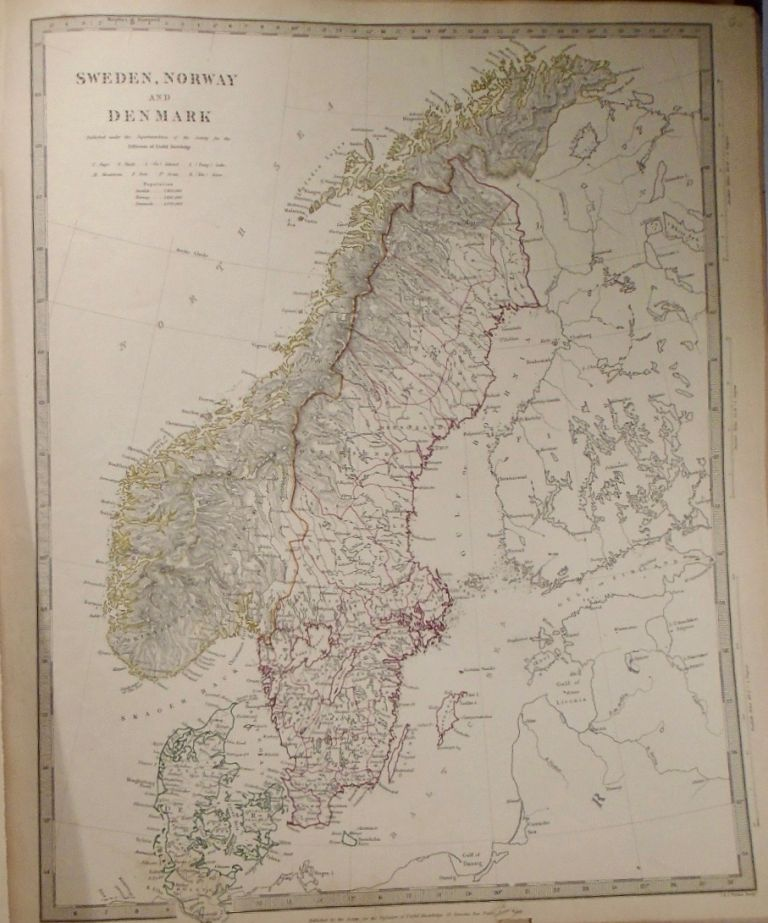 Map of Sweden, Norway, and Denmark. Baldwin, Gradoc.