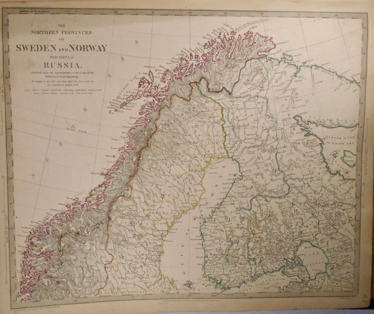 Eight Maps of Russia, Sweden, and Norway. Baldwin, Gradoc