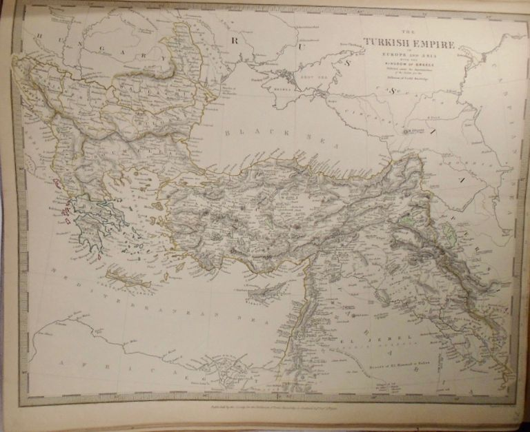 Map of the Turkish Empire in Europe and Asia With the Kingdom of Greece. Baldwin, Gradoc.