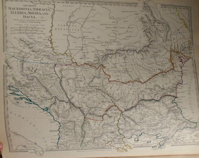 Map of Ancient Macedonia, Thracia, Illyria, Moesia, and Dacia. Baldwin, Gradoc