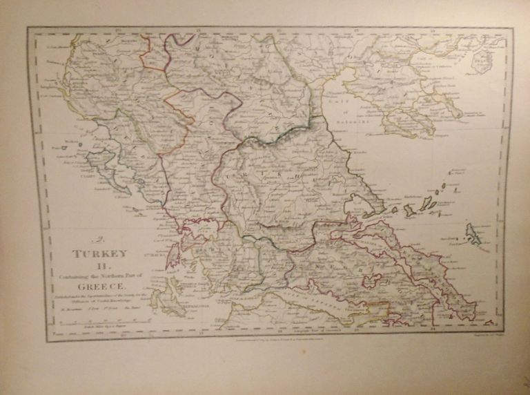 Map of Turkey and Northern Greece (Turkey II). Baldwin, Gradoc.