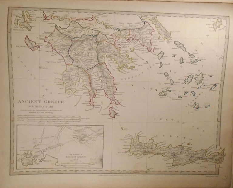 Map of the Southern Region of Ancient Greece. Baldwin, Gradoc.