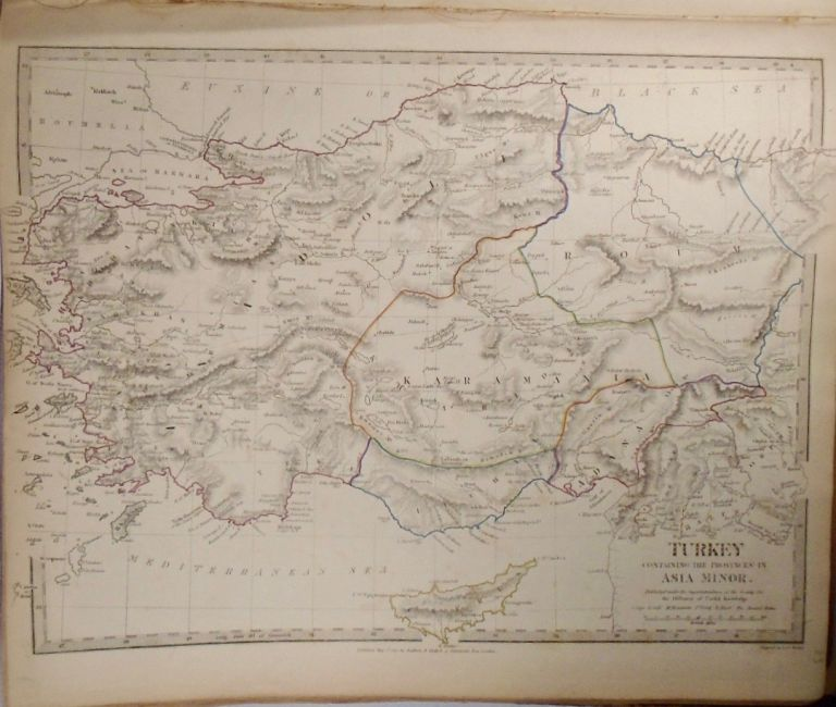 Map of Turkey, With the Provinces in Asia Minor. Baldwin, Gradoc.