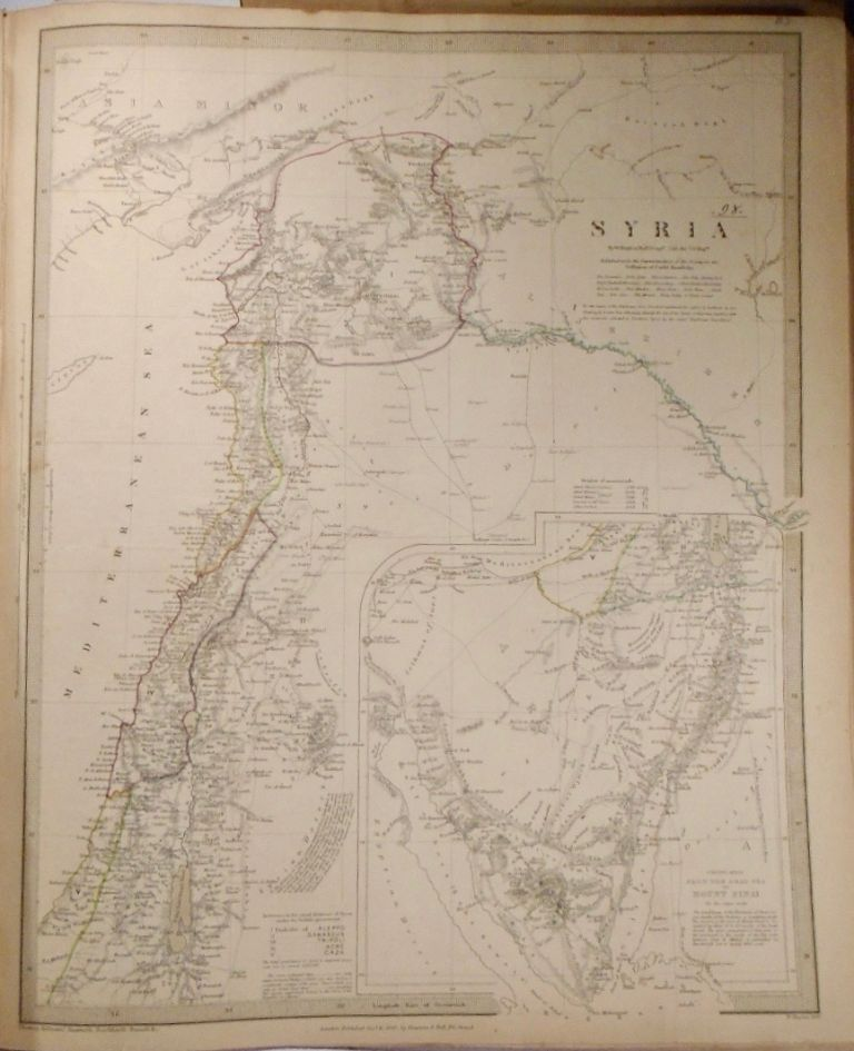 Map of Syria. W. HUGHES