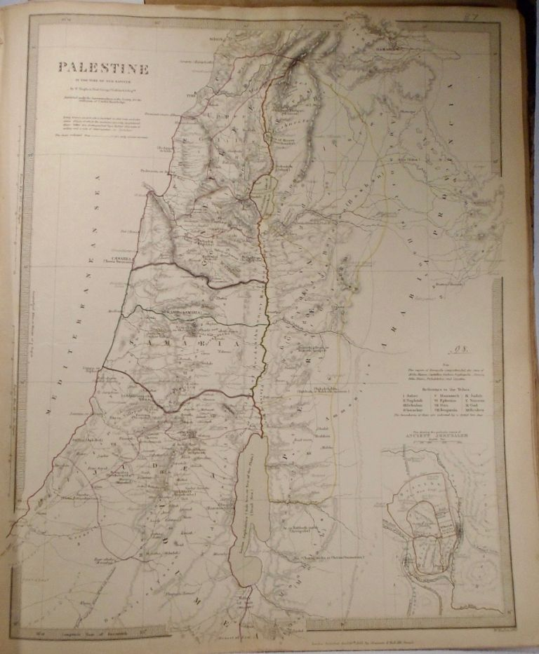 Map of Palestine in the Time of Our Savior. W. HUGHES