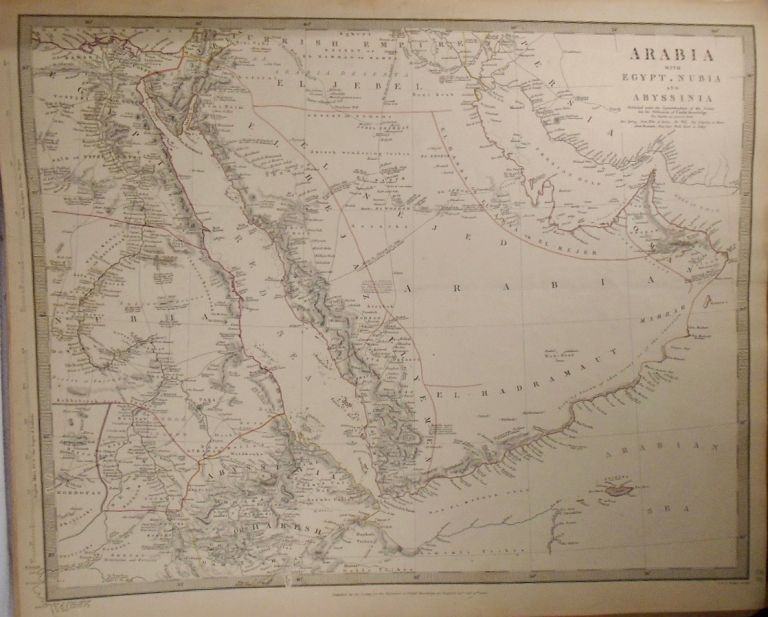 Map of Arabia With Egypt, Nubia, and Abyssinina. Baldwin, Gradoc