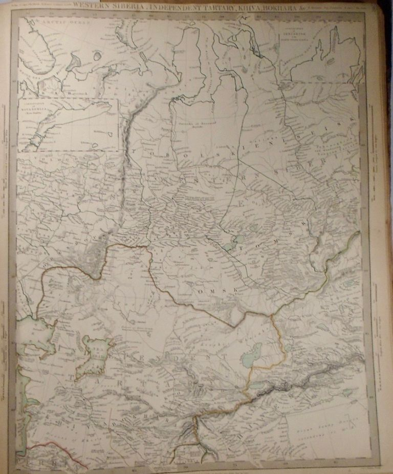 Map of Western Siberia, Independent Tartary, Khiva, and Bokhara. Baldwin, Gradoc.