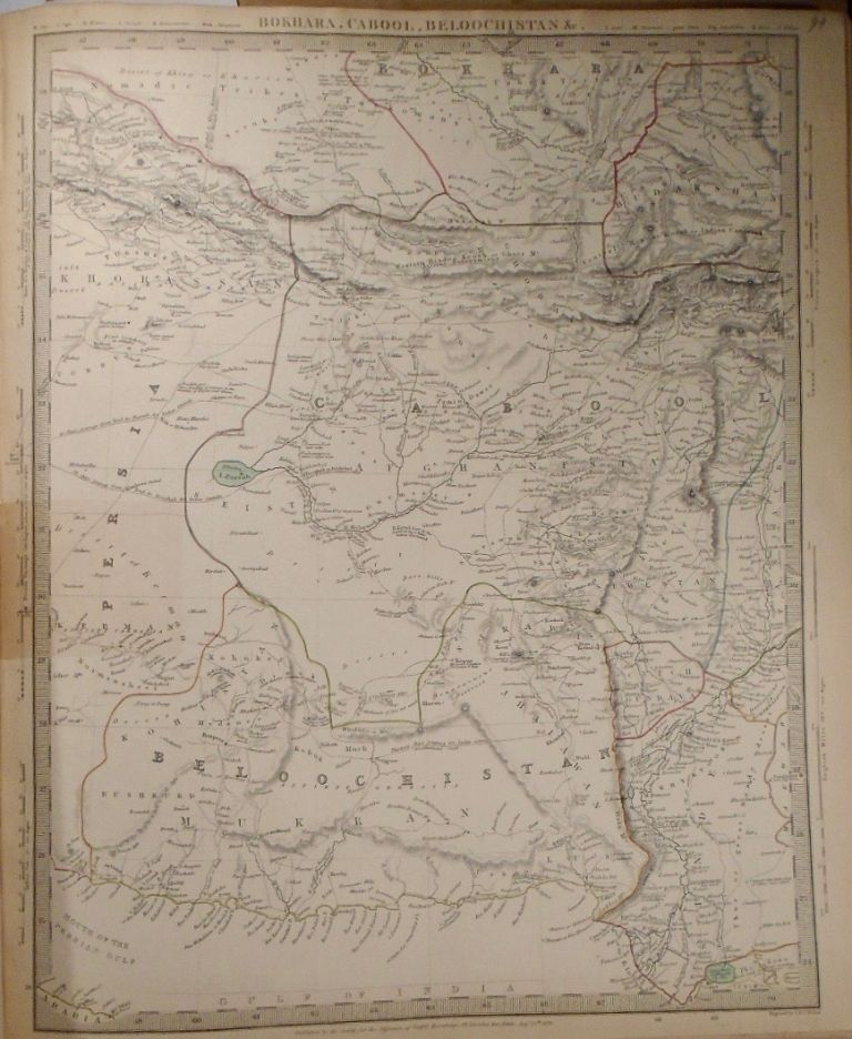 Map of Bokhara, Cabool, Beloochistan &c. Baldwin, Gradoc.