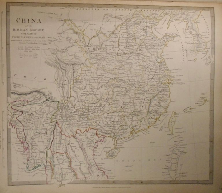 Map of China and the Birman Empire, with Parts of Cochin-China and Siam. Baldwin, Gradoc