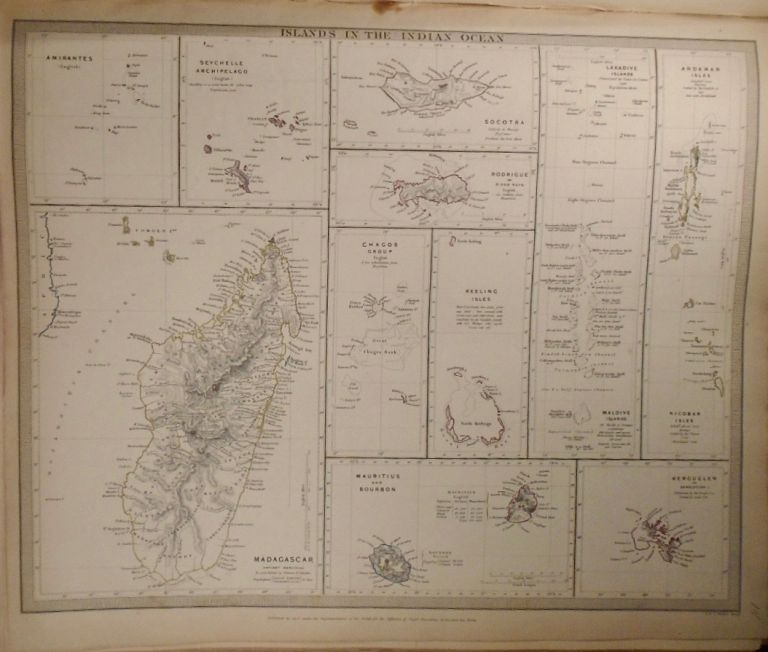 Map of Islands In the Indian Ocean. Baldwin, Gradoc