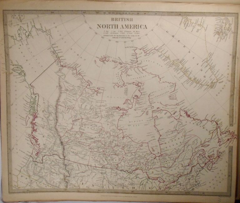 Map of British North America. Baldwin, Gradoc.