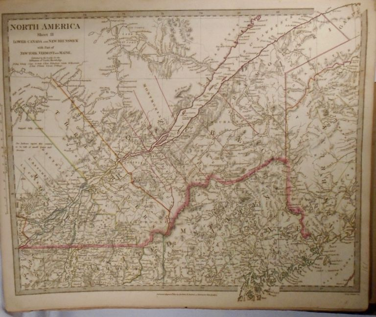 Map of North America: Lower Canada, New Brunswick with Part of New York, Vermont, and Maine. Baldwin, Gradoc.