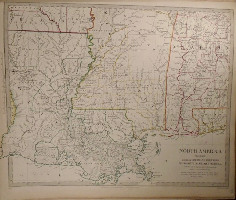 Map of North America: Parts of Louisiana, Arkansas, Mississippi, Alabama, and Florida. Baldwin,...