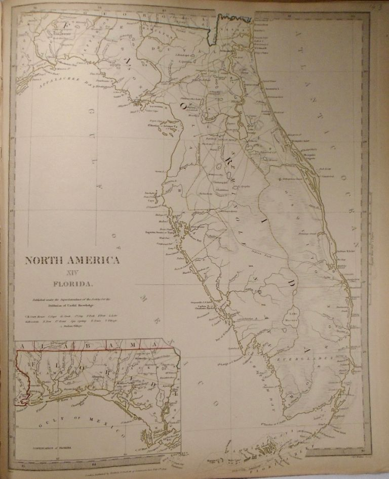 Map of Florida. Baldwin, Gradoc