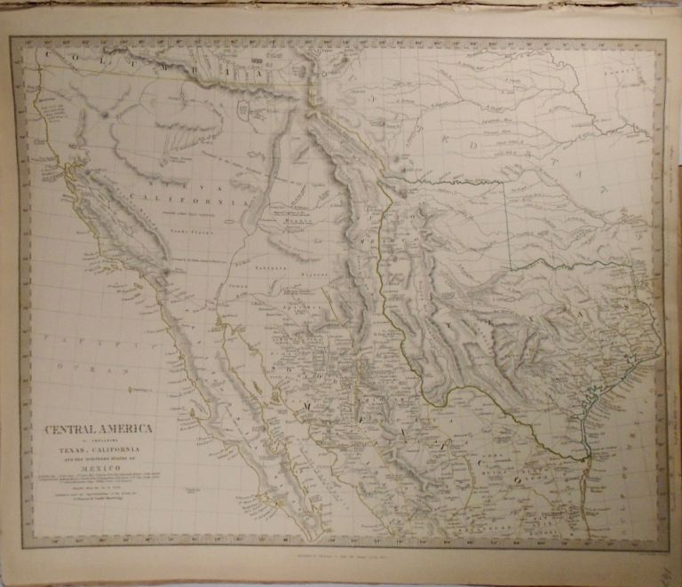 Map of Central America. Including: Texas, California, and the Northern States of Mexico. Baldwin,...