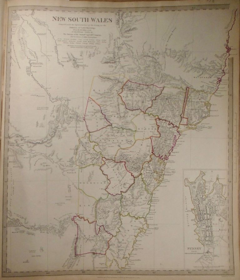 Map of New South Wales. Baldwin, Gradoc.