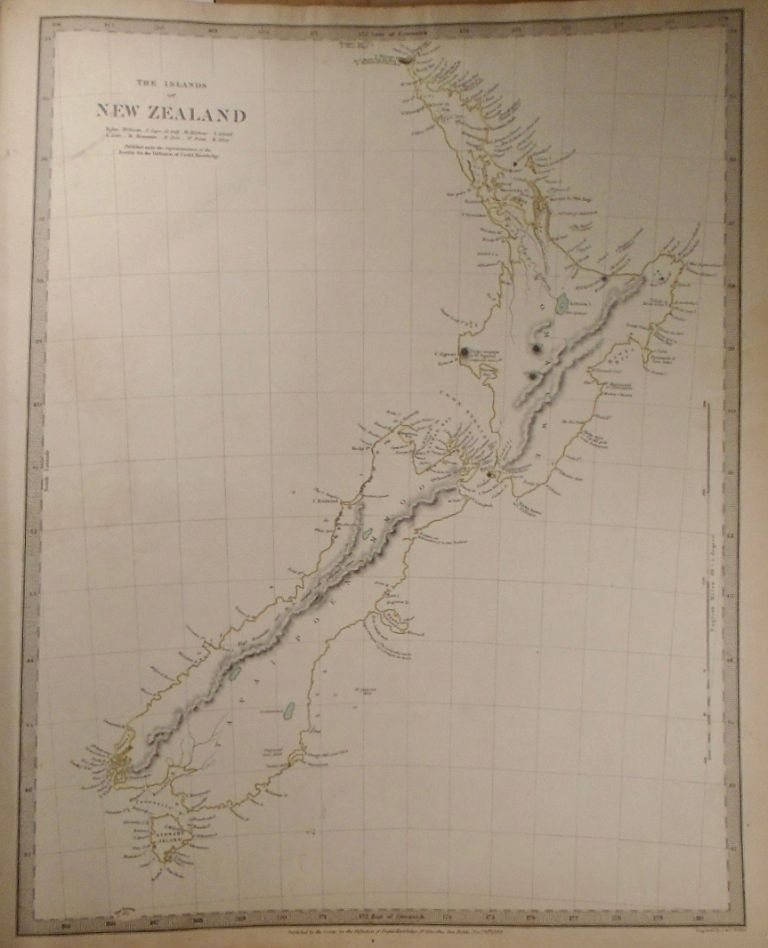 Map of New Zealand's Islands. Baldwin, Gradoc