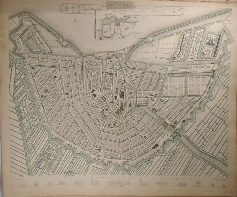 Map of Amsterdam. Baldwin, Gradoc