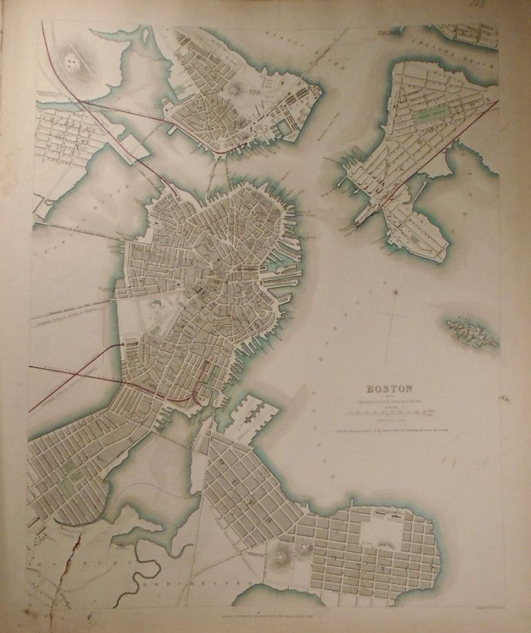Map of Boston, With Charlestown and Roxbury. Baldwin, Gradoc