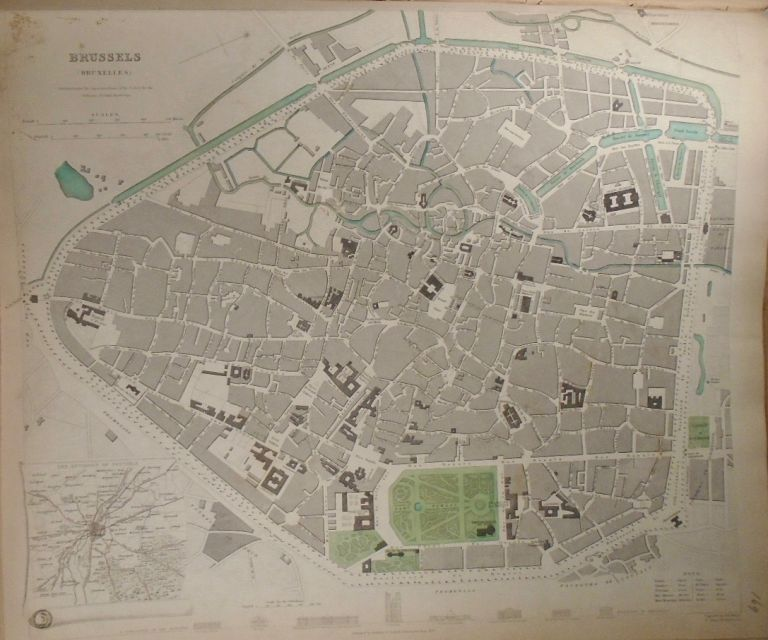 Map of Brussels (Bruxelles). Baldwin, Gradoc