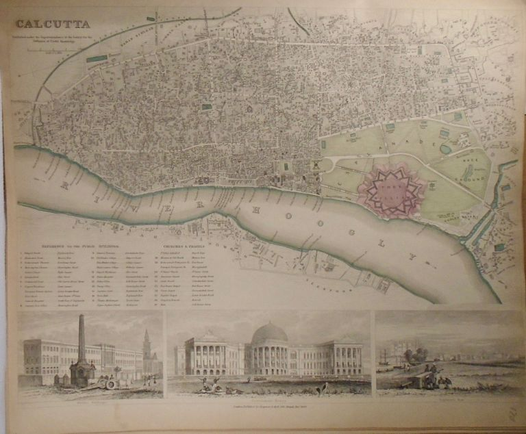 Map of Calcutta, India. Baldwin, Gradoc