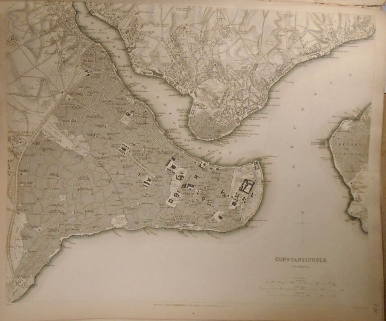 Map of Constantinople. Baldwin, Gradoc