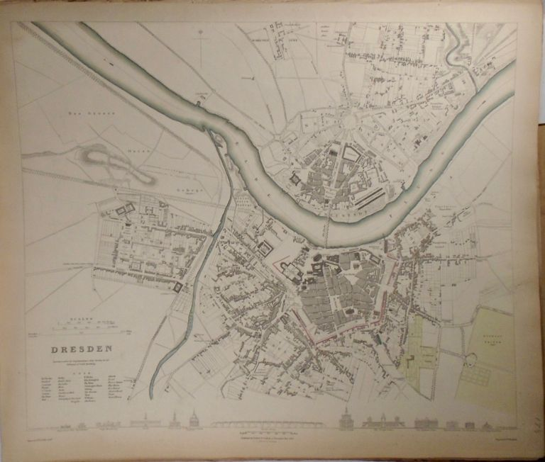 Map of Dresden. Baldwin, Gradoc