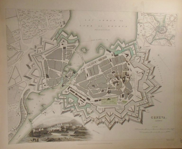 Map of Geneva. Baldwin, Gradoc.