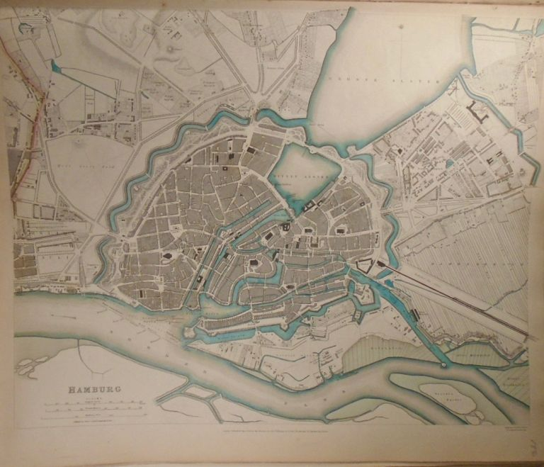 Map of Hamburg. Baldwin, Gradoc.